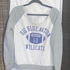 KY Wildcats off the shoulder sweatshirt